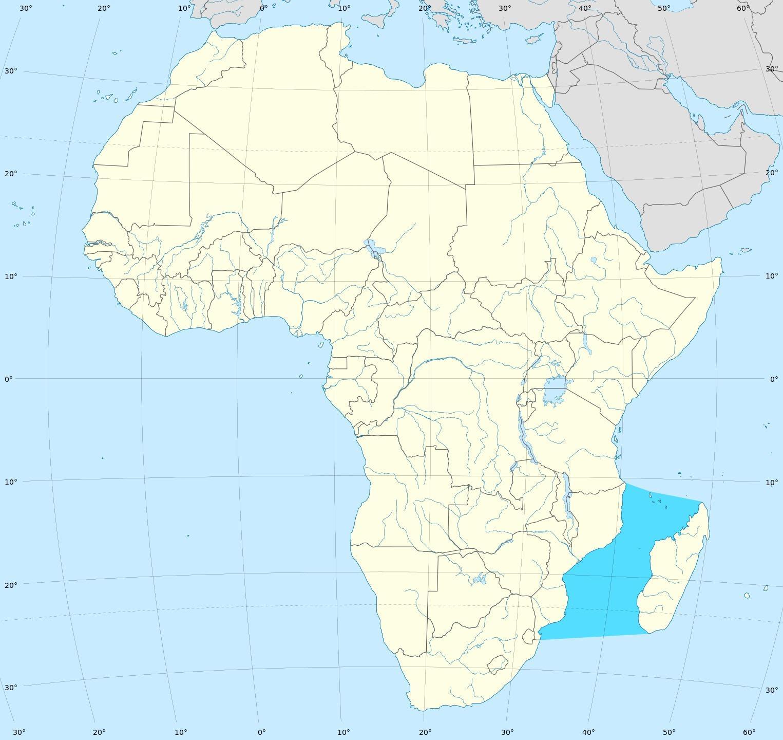 Mosambik Karte.Mosambik Karte Mosambik Afrika Karte Ost Afrika Afrika