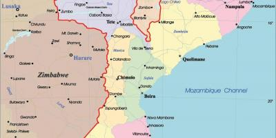 Mosambik Karte.Mosambik Karte Karten Mosambik Ostafrika Afrika